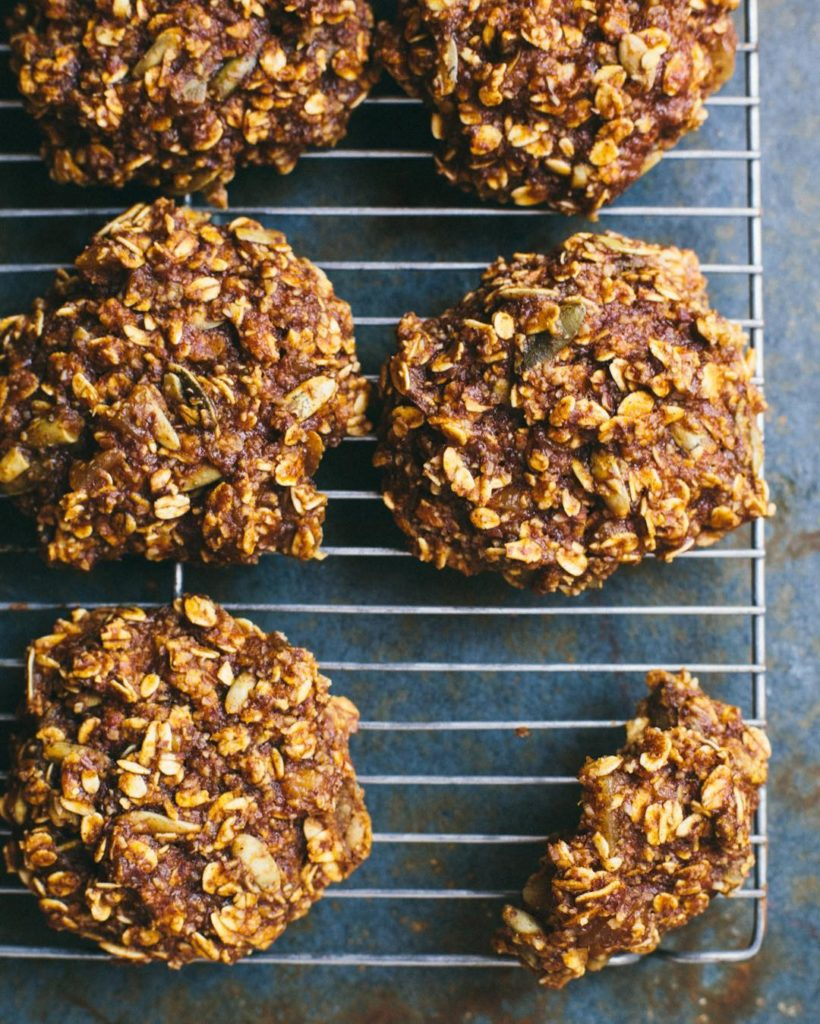 I made these Pumpkin Ginger Breakfast Cookies for todays virtualpumpkinpartyhellip