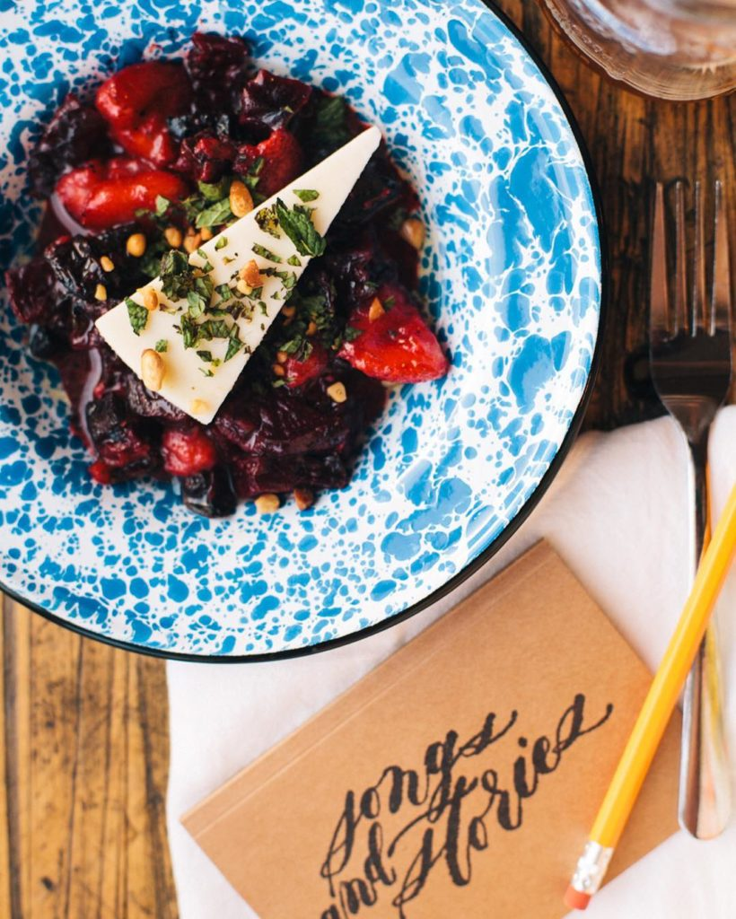 Dreaming of this roasted beet and strawberry salad I hadhellip