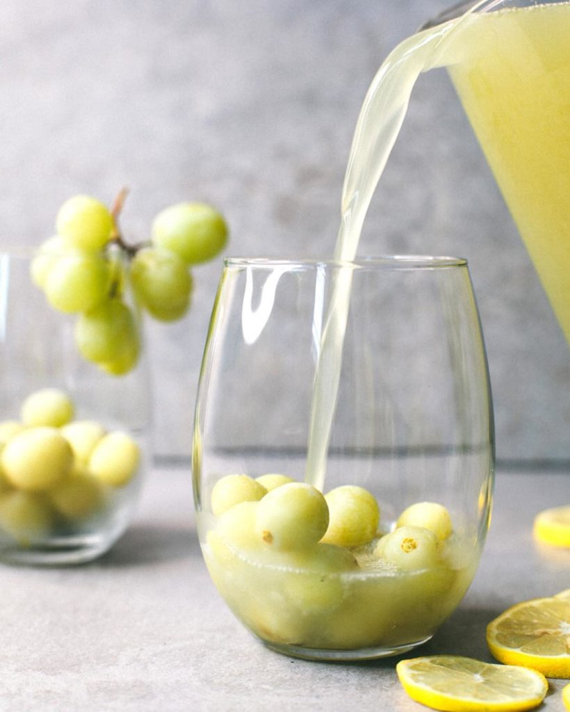 The key to surviving summer  FROZEN GRAPES in sangriahellip