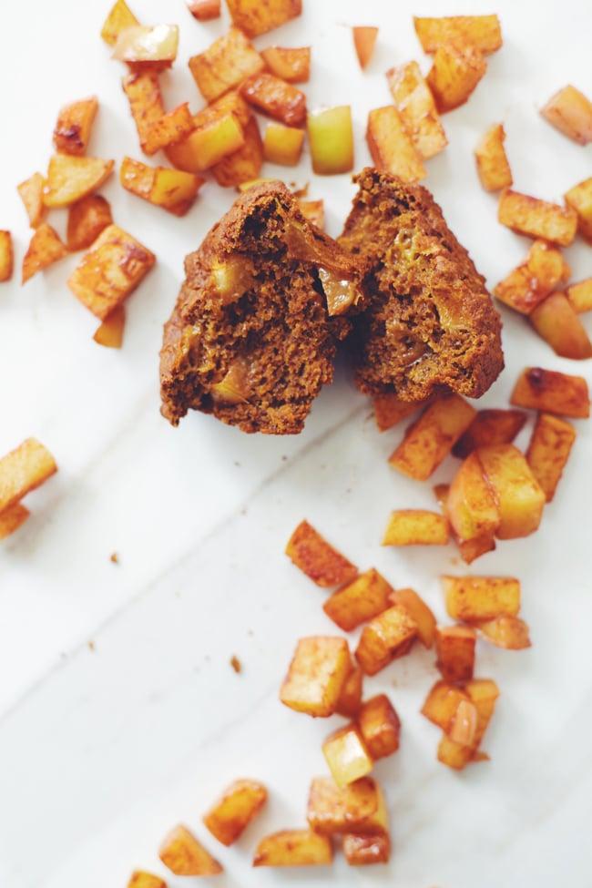 Caramelized Apple Pumpkin Muffins
