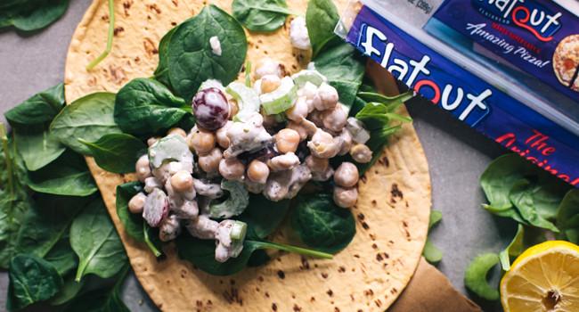 5 Minute Chickpea Salad Wraps