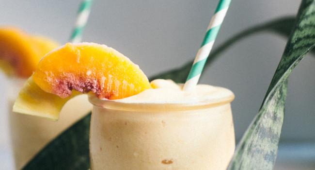 Healthy Peach Pina Colada