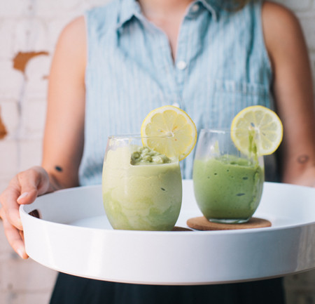 healthy green tea breakfast smoothie