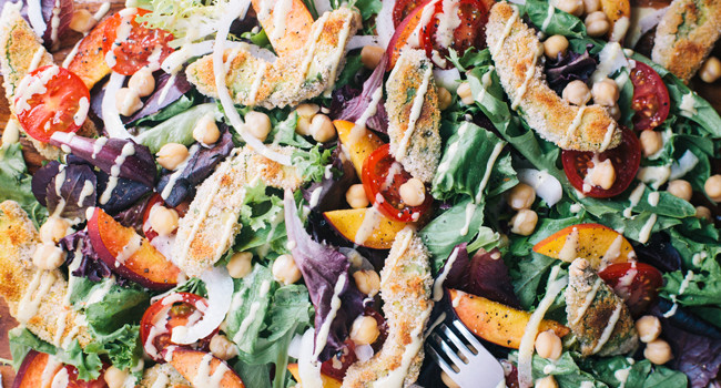 Crispy Avocado Summer Salad