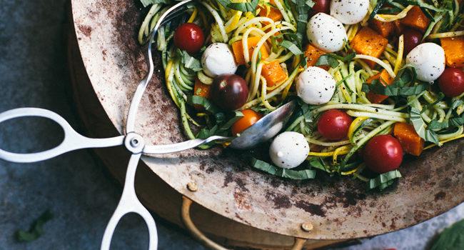Summer to Fall Caprese Squash Pasta