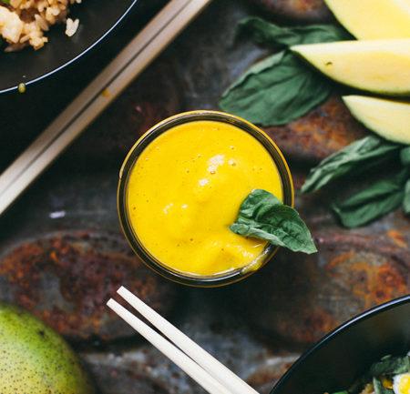 mango basil hot sauce