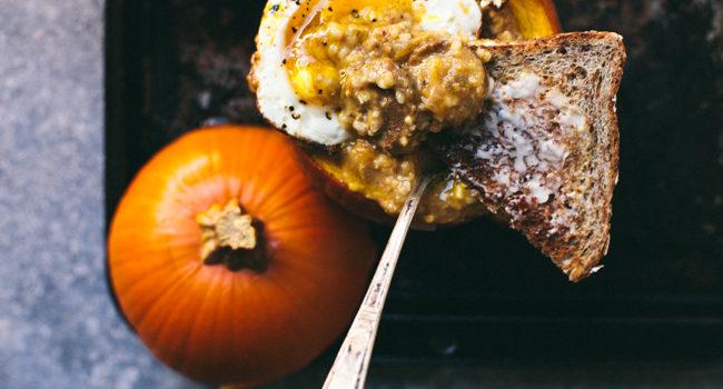 Savory Pumpkin Grits Breakfast Bowl