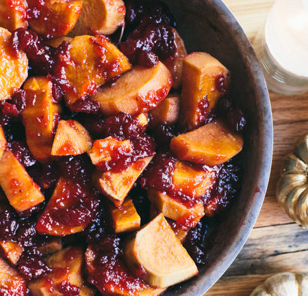 Maple Apple Cider Sweet Potatoes made with @stashtea | Brewing Happiness