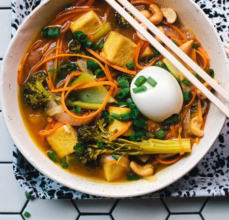 Carrot-Noodle Vegetarian Ramen | Brewing Happiness